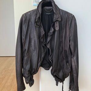 NEW Muubaa Lambskin Leather Jacket Size 2 (Small)